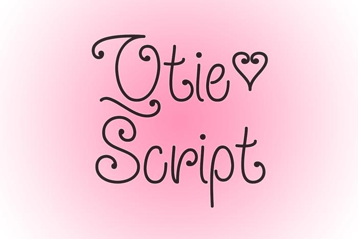Qtie Script Font poster