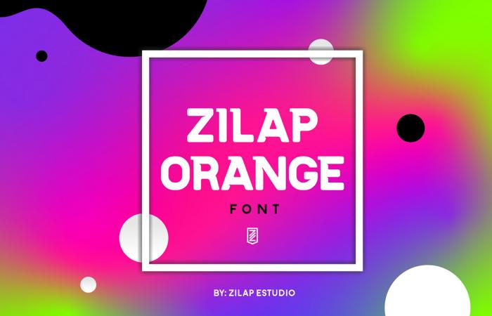 Zilap Orange Font poster