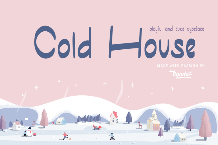 Cold House Font poster