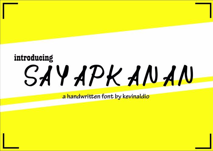 SayapKanan Font poster