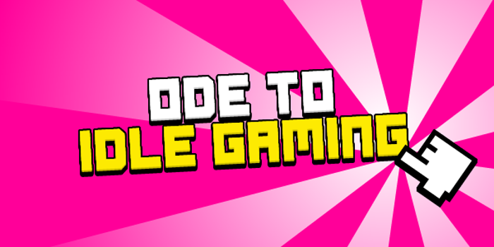 Ode to Idle Gaming Font poster