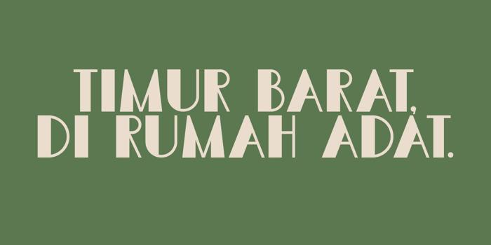 DK Semarang Kolonial Font poster