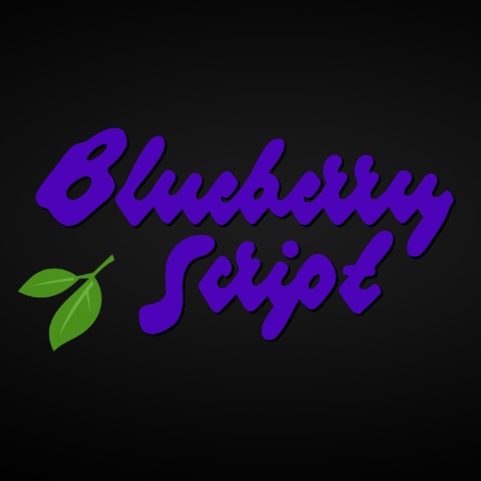 Blueberry Script Font poster