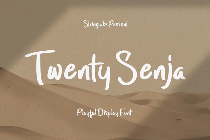 Twenty Senja Font poster