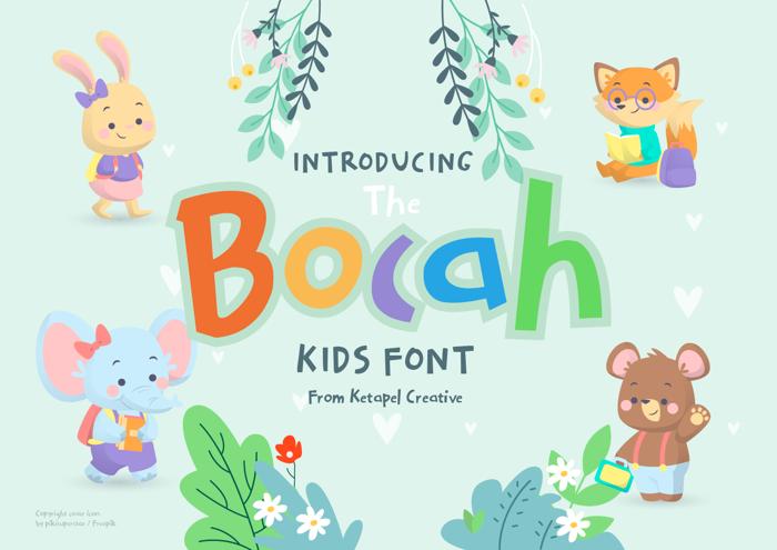 The Bocah Font poster