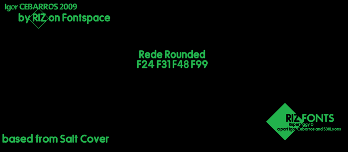 Rede Rounded F24 Font poster