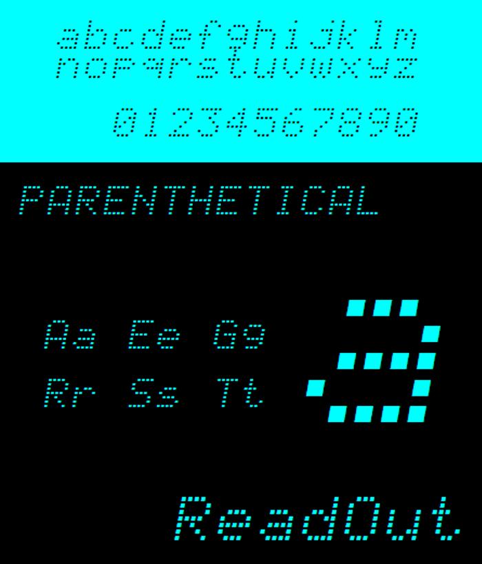 NBP Readout Font