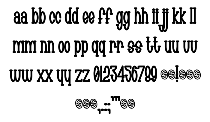 Chachie Font poster