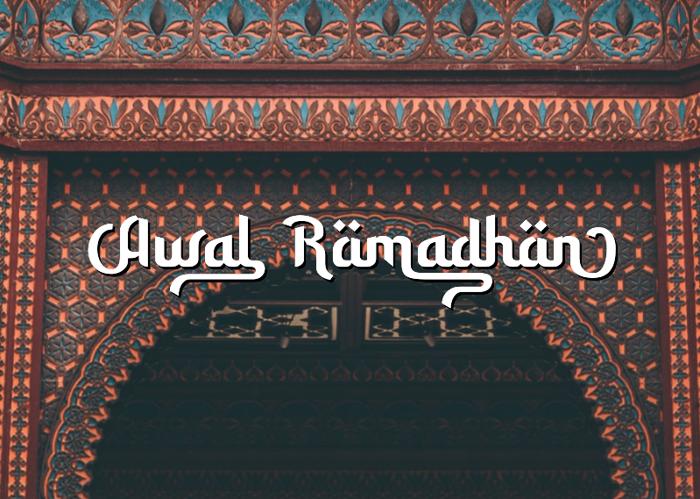 Awal Ramadhan Font poster
