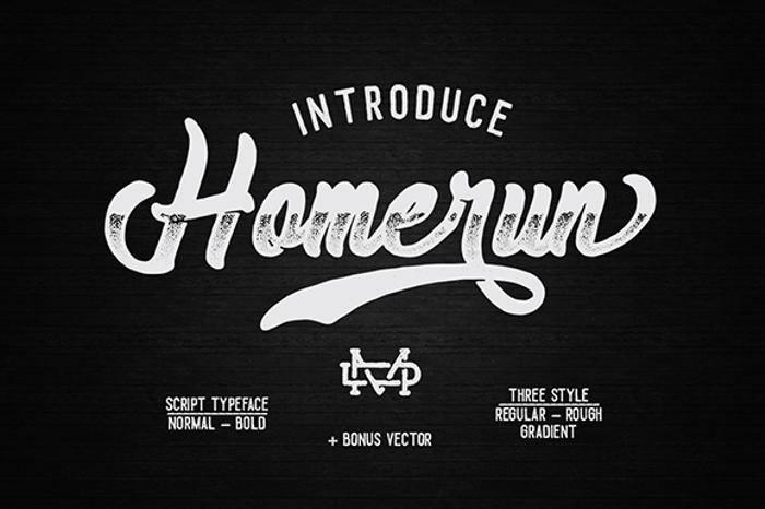 Homerun Font poster