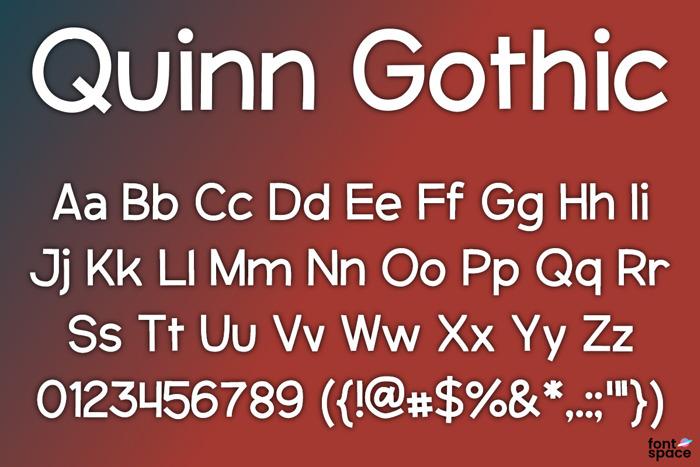 Quinn Gothic Font poster