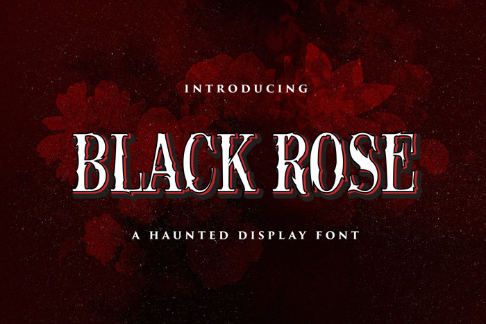 Black Rose Font poster