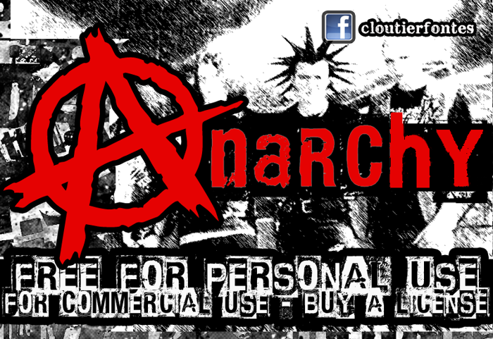 CF Anarchy Font poster