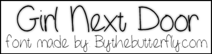 GirlNextDoor Font