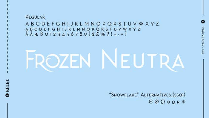 Frozen Neutra Font poster
