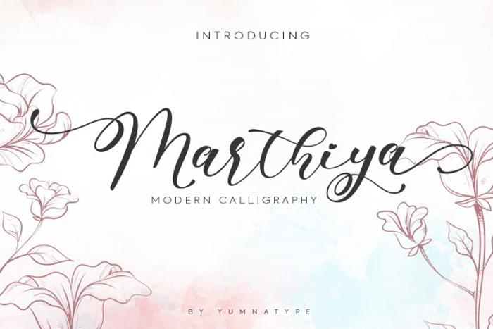 Marthiya Font poster