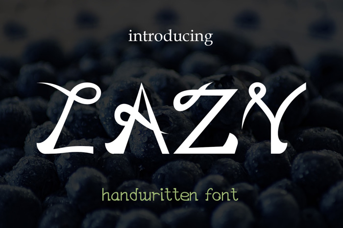 EP Lazy Font poster