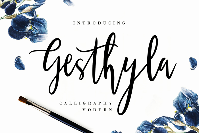 Gesthyla Calligraphy Modern Font poster