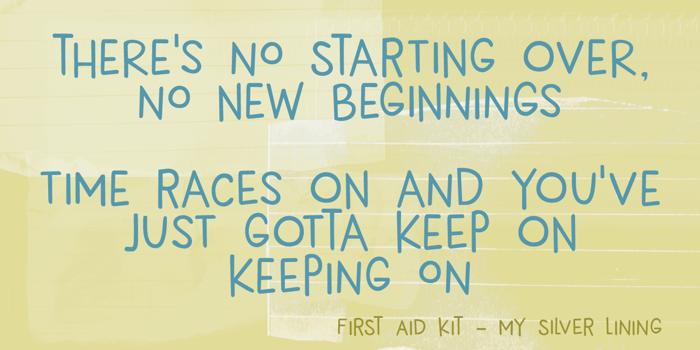 DK New Beginnings Font poster