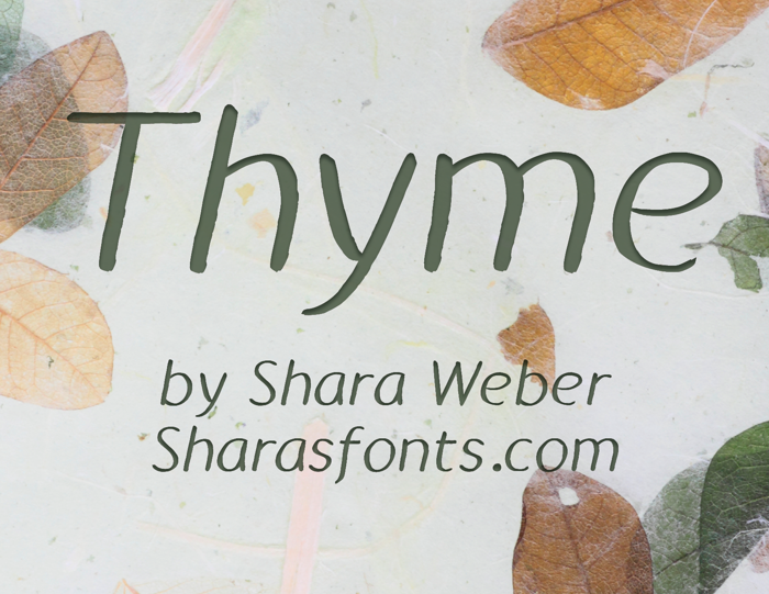 Thyme Font poster