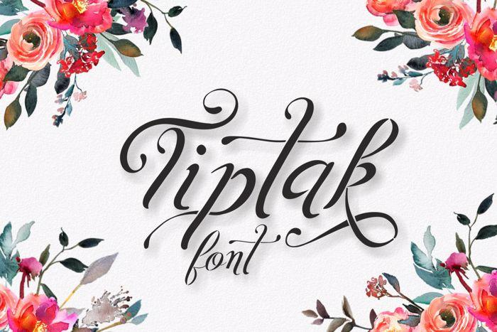 Tiptak Font poster