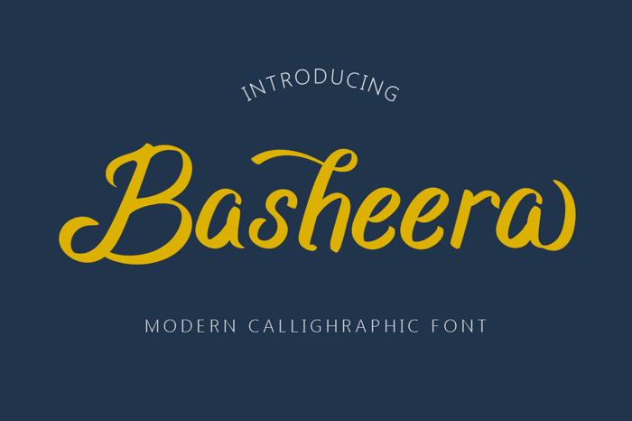 Basheera Font poster