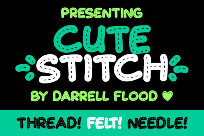 Cute Stitch Font poster