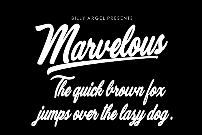 Marvelous Font poster