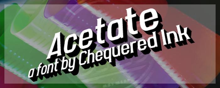 Acetate Font poster