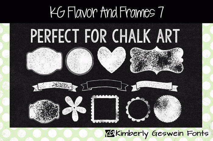 KG Flavor And Frames Seven Font poster