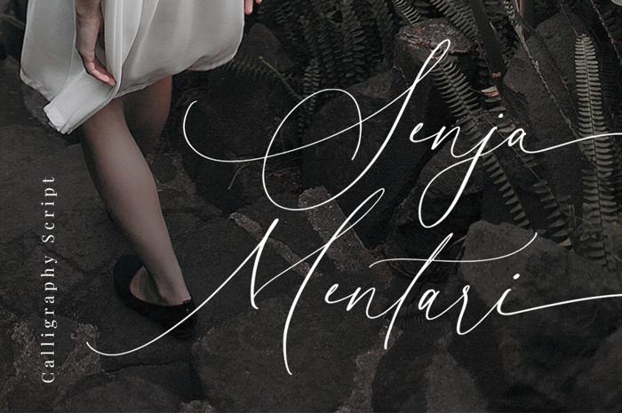 Senja Mentari Font poster
