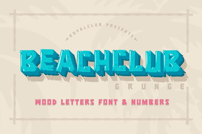 BEACHCLUB Grunge Font poster