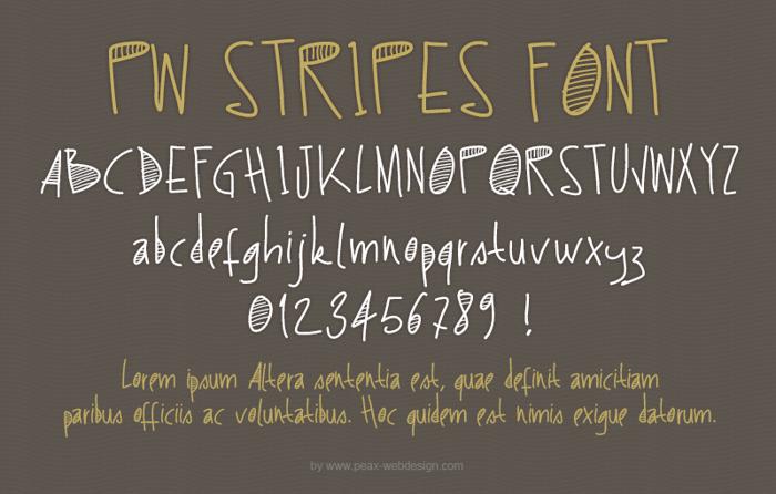 PWStripes Font poster
