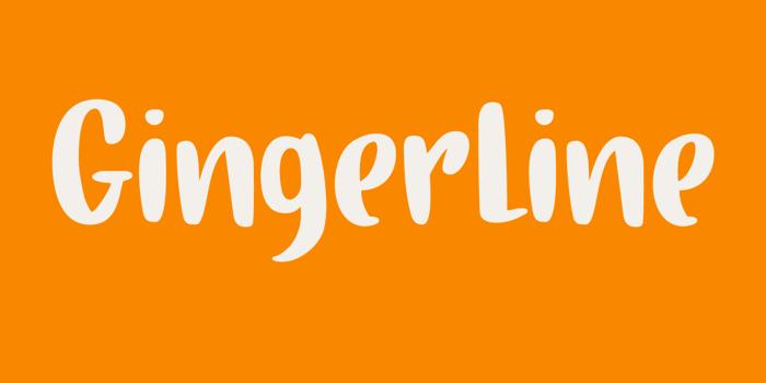 Gingerline DEMO Font poster