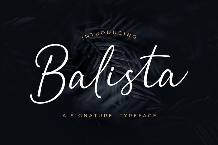 Balista Font poster
