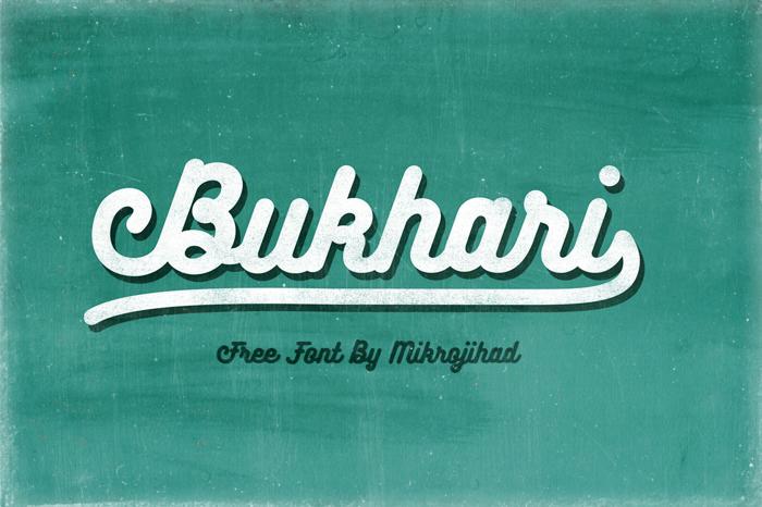 Bukhari Script Font poster