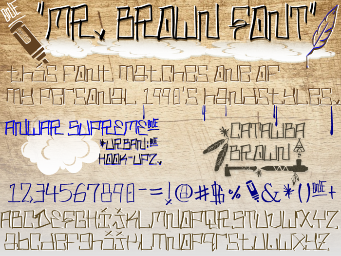 MR. BROWN - Urban Hook-Upz Font poster