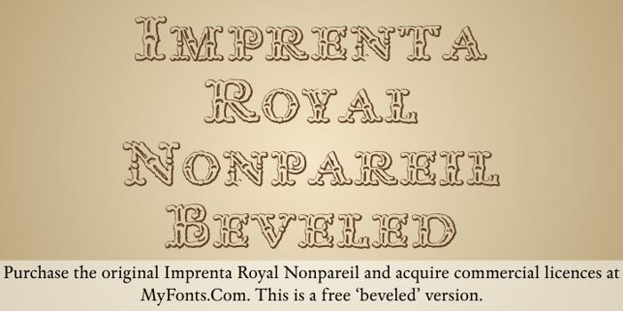 Imprenta Royal Nonpareil Font poster
