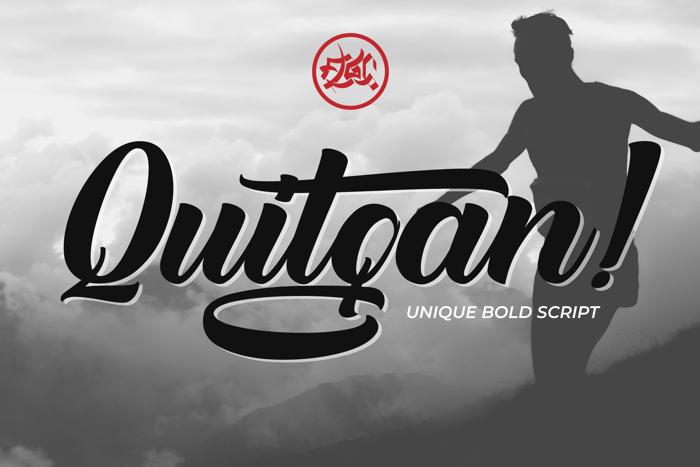 Quitgan Font poster