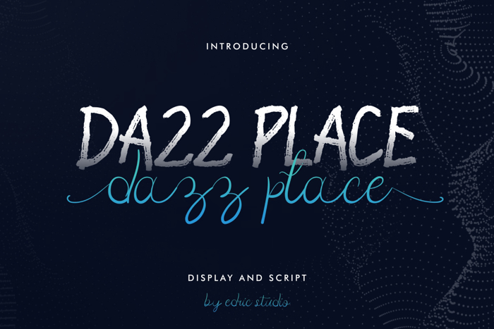 Dazz Place Font poster