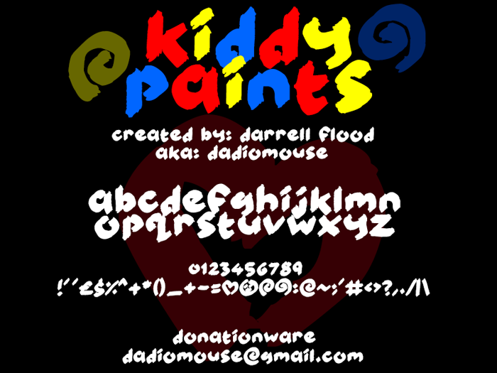 Kiddy Paints Font poster