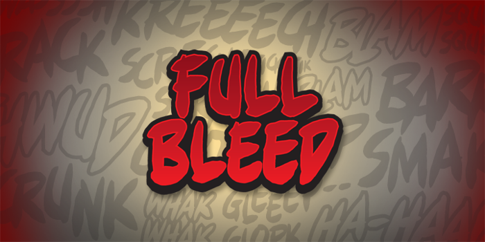 Full Bleed BB Font poster