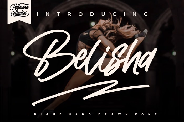 Belisha Font poster