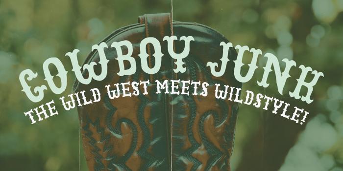 Cowboy Junk DEMO Font poster
