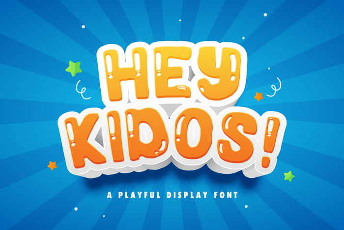 Hey Kidos Font poster