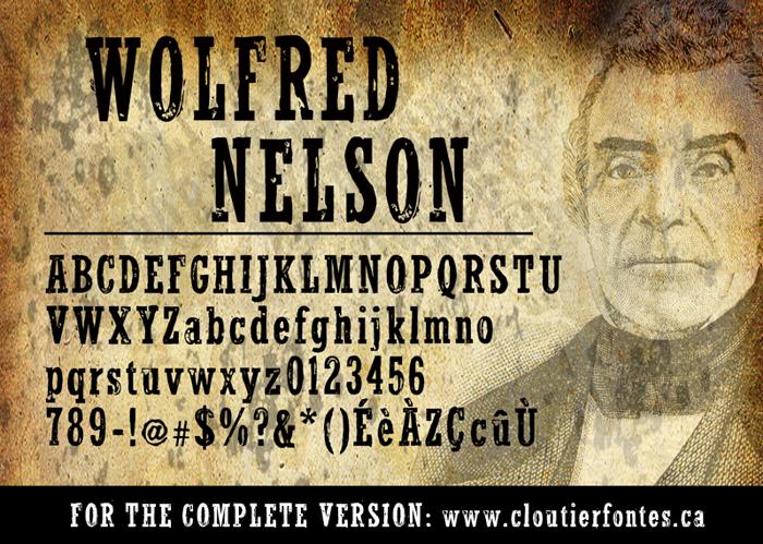 WolfredNelson Font poster