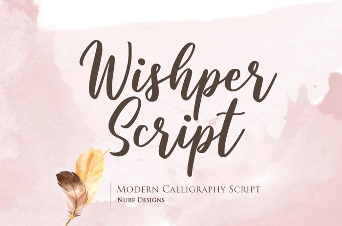 Wishper Script Font poster