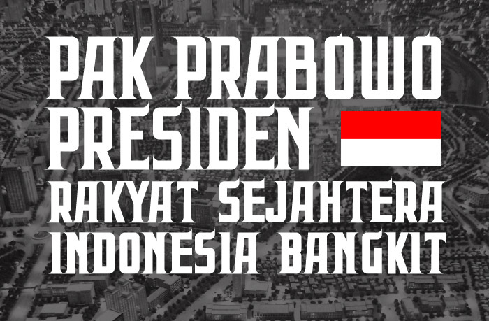 Prabowo Font poster