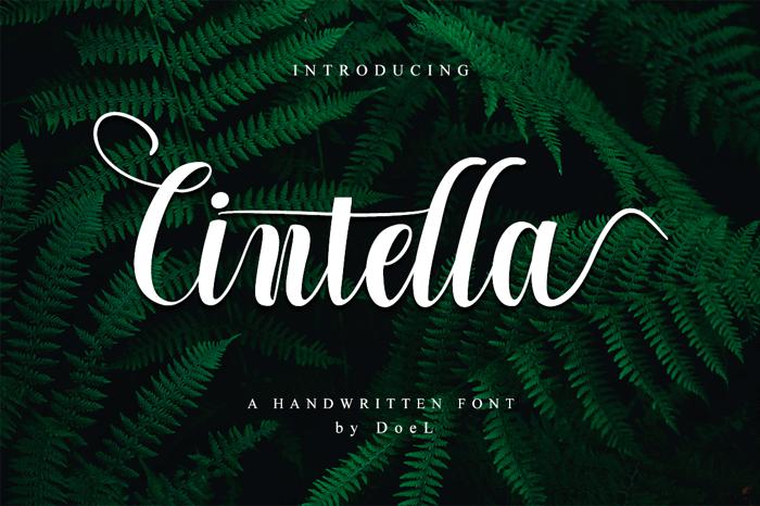 Cintella Font poster