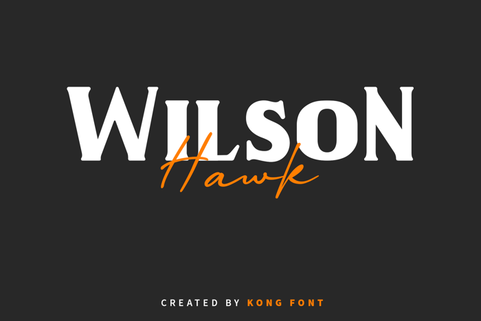 Wilson Hawk Font poster